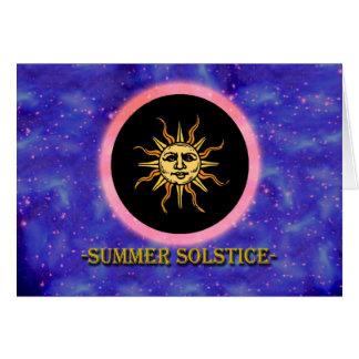 Litha, Summer Solstice, Sun in the Heavens Card