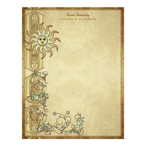Litha Sun Art Stationery Letterhead