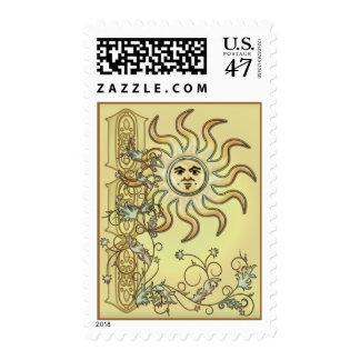 Litha Sun Celtic Style Design Postage