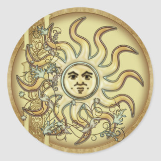 Litha Sun Celtic Style Design Stickers