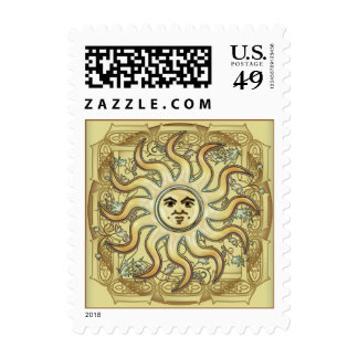 Litha Sun Celtic Style Postage Postage Stamps