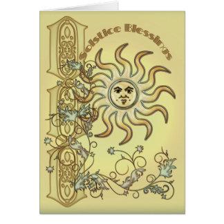 Litha Sun Greetings Card