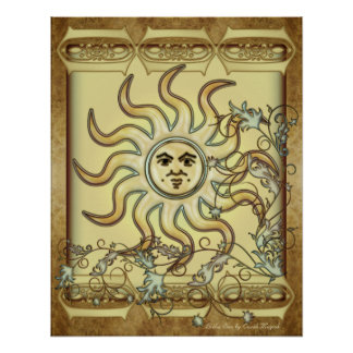 Litha Sun Poster Print