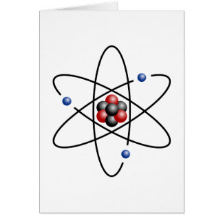 Lithium Atom Chemical Element Li Atomic Number 3 Greeting Card
