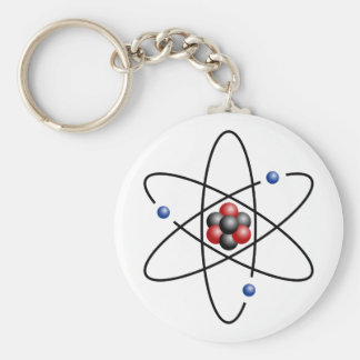Lithium Atom Chemical Element Li Atomic Number 3 Keychain