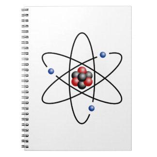 Lithium Atom Chemical Element Li Atomic Number 3 Notebook