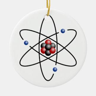 Lithium Atom Chemical Element Li Atomic Number 3 Christmas Ornaments