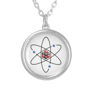 Lithium Atom Chemical Element Li Atomic Number 3 Round Pendant Necklace