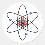 Lithium Atom Chemical Element Li Atomic Number 3 Classic Round Sticker