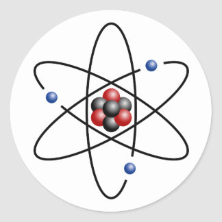 Lithium Atom Chemical Element Li Atomic Number 3 Stickers