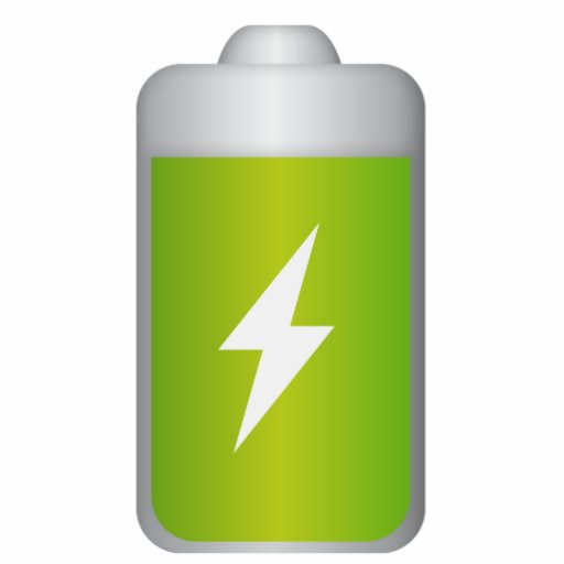 lithium-ion battery Icon Acrylic Cut Outs | Zazzle