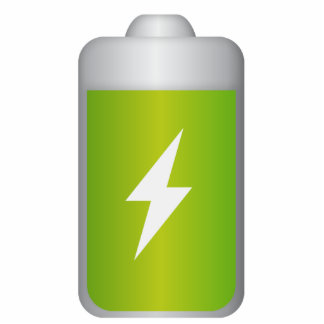 lithium-ion battery Icon Cutout