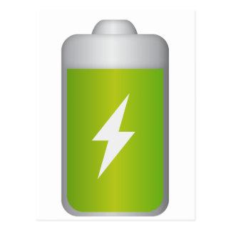 lithium-ion battery Icon Postcard