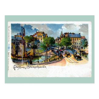 Litho de Bremerhaven Geestebrücke del aus de Gruss Postales