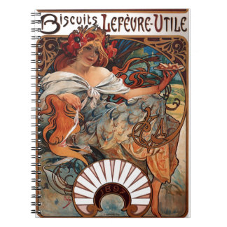 """Lithograph """"Biscuits Lefèvre-Utile"""" Note Books"""