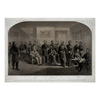 Lithograph of The Surrender of General Lee Poster
