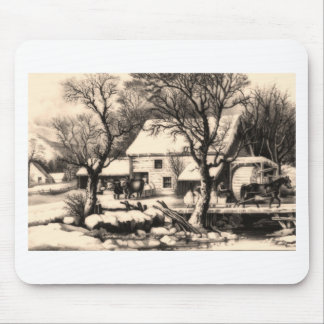 Lithograph ~ Winter Scene Mouse Pad