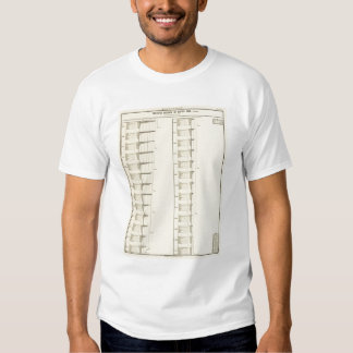 Lithographed chart of United States population T-Shirt