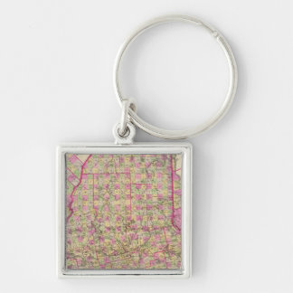 Lithographed Map of Maine Key Chains