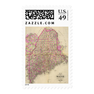 Lithographed Map of Maine Stamp