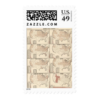 lithographed maps of denominational statistics postage
