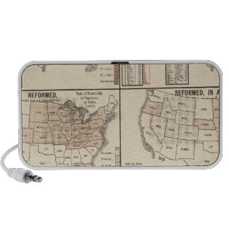 lithographed maps of denominational statistics mp3 speaker