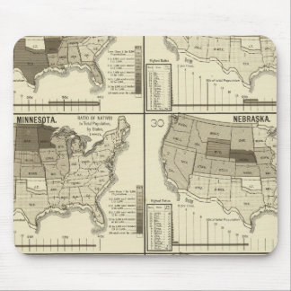 lithographed maps of United States Mouse Pad