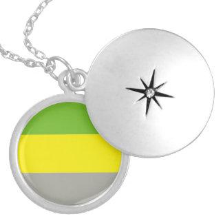 Lithromantic Pride Round Locket Necklace