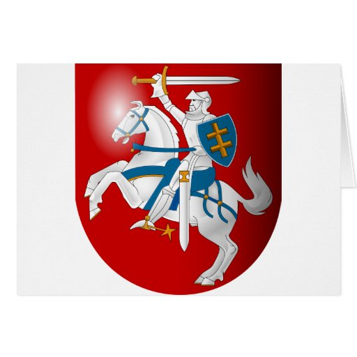 Lithuania 3d, Lithuania Greeting Card