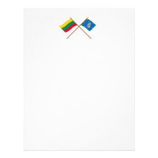 Lithuania and Alytus County Crossed Flags Letterhead