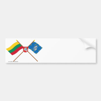 Lithuania and Alytus County Flags with Arms Bumper Sticker