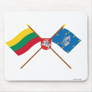 Lithuania and Alytus County Flags with Arms Mouse Pad