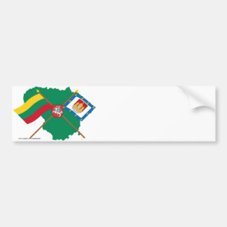 Lithuania and Klaipeda County Flags, Arms, Map Bumper Sticker