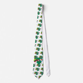 Lithuania and Klaipeda County Flags, Arms, Map Neck Tie