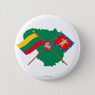 Lithuania and Marijampole County Flags, Arms, Map Button