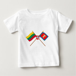 Lithuania and Marijampole County Flags with Arms Baby T-Shirt