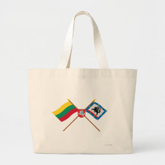 Lithuania and Panevezys County Flags with Arms Large Tote Bag