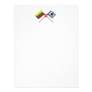 Lithuania and Panevezys County Flags with Arms Letterhead