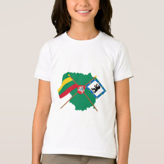Lithuania and Siauliai County Flags, Arms, Map T-Shirt