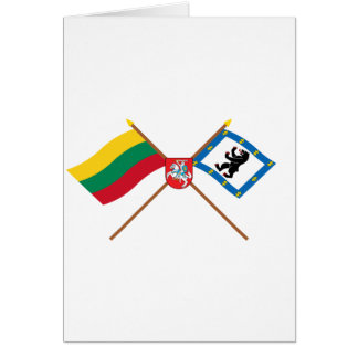 Lithuania and Siauliai County Flags with Arms Card