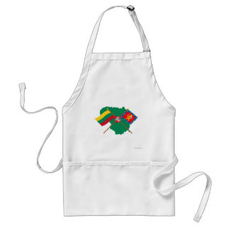 Lithuania and Taurage County Flags, Arms, Map Adult Apron