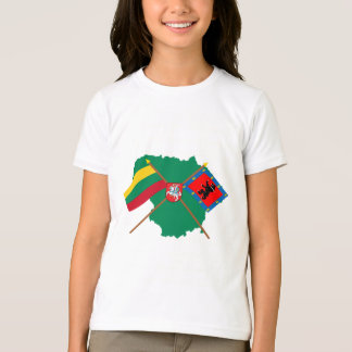 Lithuania and Telsiai County Flags, Arms, Map T-Shirt