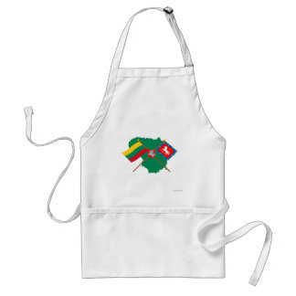 Lithuania and Utena County Flags, Arms, Map Adult Apron