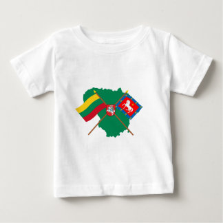 Lithuania and Utena County Flags, Arms, Map Baby T-Shirt