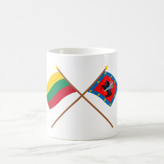 Lithuania and Vilnius County Crossed Flags Mugs