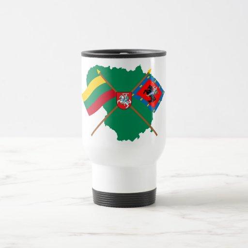 Lithuania and Vilnius County Flags, Arms, Map Coffee Mug