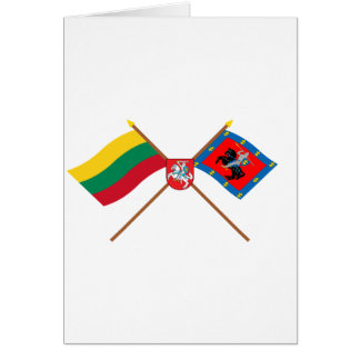Lithuania and Vilnius County Flags with Arms Cards