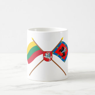 Lithuania and Vilnius County Flags with Arms Coffee Mug