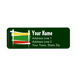 Lithuania Brush Flag Label