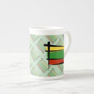 Lithuania Brush Flag Tea Cup